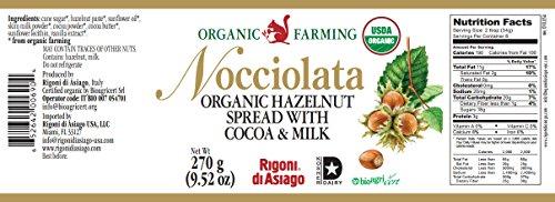 ノチオラタオーガニックヘーゼルナッツチョコレートスプレッド270g
