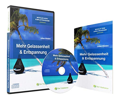 Mehr Gelassenheit und Entspannung mit Hypnose CD und Tiefenentspannung. Schneller Stressabbau mit Premium Audio Programm vom zertifizierten Hypnose Coach | geführte Selbsthypnose und Entspannungs-CD