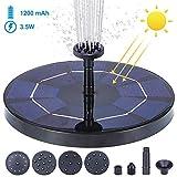 AGKupel Solar Springbrunnen 3. 5W / 4. 5V Solar Teichpumpe Garten Wasserpumpe mit Solar Panel Solar schwimmender Fontäne Pumpe für Gartenteich Oder Springbrunnen Fisch-Behälter