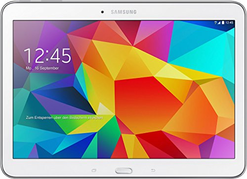 Samsung Galaxy Tab 4 10.1 Wi-Fi 25,6 cm (10,1 Zoll) Tablet-PC (1,2GHz Quad-Core, 1,5GB RAM, 16GB interner Speicher, Bluetooth 4.0, Android 4.4.2, EU-Stecker) weiß (Generalüberholt)