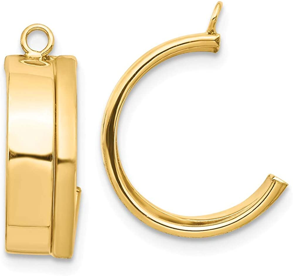 Solid 14k Yellow Gold Dangle Earring Jacket - 17mm x 5mm