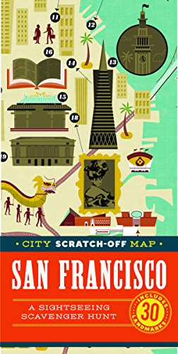 City Scratch-Off Map: San Francisco: A Sightseeing Scavenger Hunt