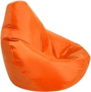 Amazon Com Bean Bag Chairs Orange Bean Bags Game Recreation Room Furniture Home Kitchen
