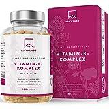Vitamin B Komplex Hochdosiert - 6 Monate Vorrat (180 Kapseln) - enthält 8 essentielle B Vitamine...