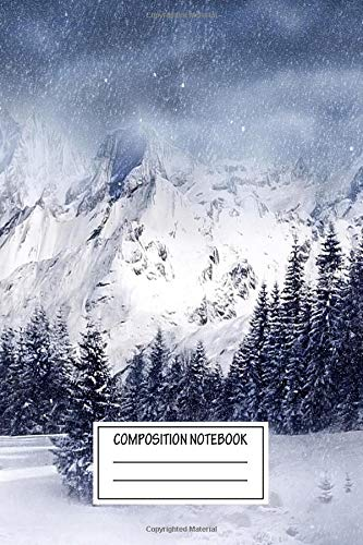 Composition Notebook: Landscapes Winter Dreamy Wide Ruled Note Book, Diary, Planner, Journal for Writing