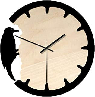 China Ware 2019 Nordic Woodpecker Style Wall Clock Silent Wooden Lock Home Living Room