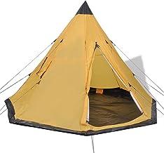 Camping vandring 4-personers tält gul