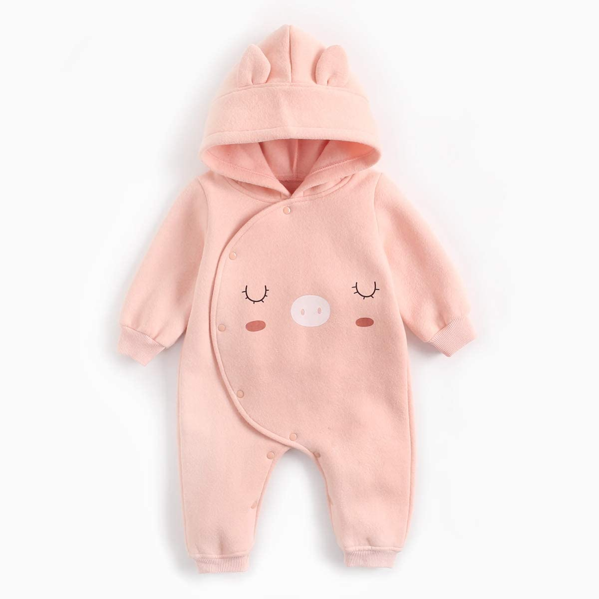 Sanlutoz Animal Baby Winter Clothes Cute Cotton Baby Rompers Newborn Hooded