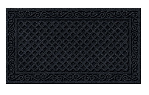 18-Inch by 30-Inch Apache Mills CleanScrape Welcome Iron Graphite Door Mat