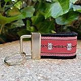 Schlüsselanhänger Taschenanhänger Filz schwarz Webband Edelweiß rot weiß Geschenk!