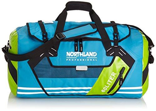 Northland Professional, Borsone impermeabile Aquatic, Blu (Blue/Green), 61 x 39 x 34 cm, 60 litri