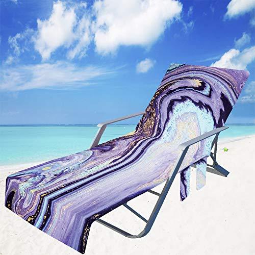 SM-River Fundas para Sillas De Playa Toallas De Microfibra Fundas para Sillas De Salón Toalla De Playa para Piscina Tumbona para Tomar El Sol Vacaciones (75 * 200CN,17)