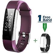 MOCRUX Fitness Tracker mit Herzfrequenzmesser Fitness Armband HR Fitness Tracker mit Ein Ersatzarmband