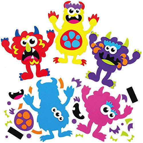 Baker Ross AX240 Monster Craft Magnets for Halloween - Pack of 8, Mix &...