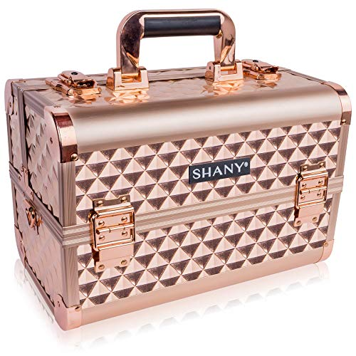 SHANY Rose Gold Makeup Train Case