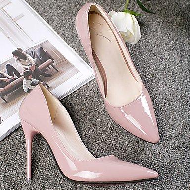 Zormey Donna Tacchi Comfort Estivo Pu Outdoor Stiletto Heel Arrossendo Rosa6.5-7 Us / Eu37 / Uk4 5-5 / Cn37