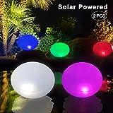 Inflable UFO Luces Solar Piscina Flotante, Lámpara Solar de Jardín RGB LED Color Cambiante, IP68 Impermeable Colorido Luces Nocturnas Iluminación de Exterior Colgante para Patio Césped Paisaje Playa