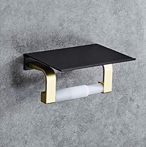 Accesorios de baño Soporte de toalla de papel negro Hotel Toilet Creative...