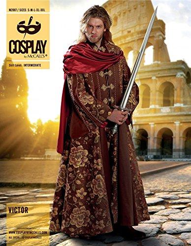 McCalls Cosplay Herren Schnittmuster 2087 Victor Mantel Kostüm