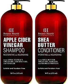 Botanic Hearth Apple Cider Vinegar Shampoo & Shea Butter Conditioner Set