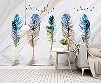 YCRY-壁紙3Dフェザーバード -壁の装飾-ポスター画像写真-HD印刷-現代の装飾-壁画-280x200cm