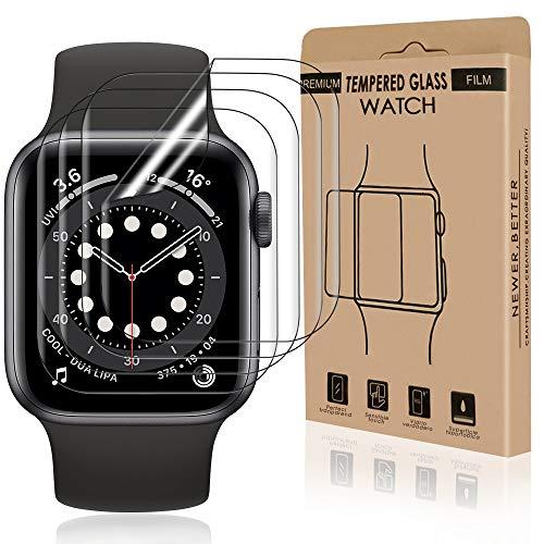 Bodyguard 4 Stück Schutzfolie kompatibel mit Apple Watch Series 4/5/6/SE (40mm), Ultra Klar HD Flexible TPU Folie, Blasenfrei Anti-Scratch Displayschuzfolie