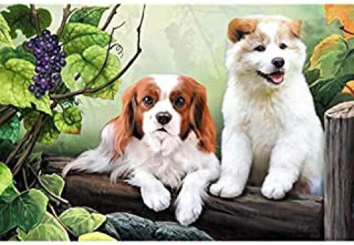 Pintar por Numeros Adultos Niños Principiante Rack de uva perros animales DIY pintura al óleo por Números Hogareña Decoraciones Regalos de Cumpleaños