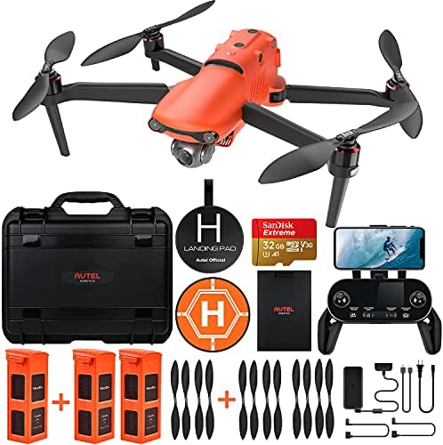 Autel Robotics EVO 2 Drone 8K HDR Video Rugged Bundle with 8 Value Accessories Kit (2021 Newest Ver.)