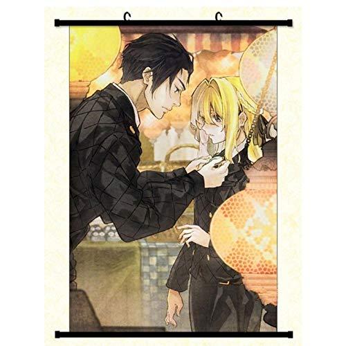 HNJYXX Póster de Desplazamiento de Anime Violeta Evergarden Tela artística Sala de Estar Obra de Arte decoración Moderna del hogar-40x60cm/15.75inchx23.62inch