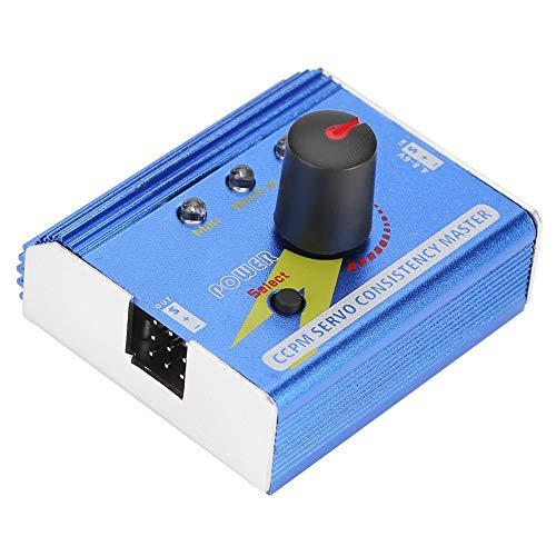 Shexton Probador de servos, 4.8-6V Aluminio ESC Servo Tester CCPM Consistency Master Checker RC Accesorio