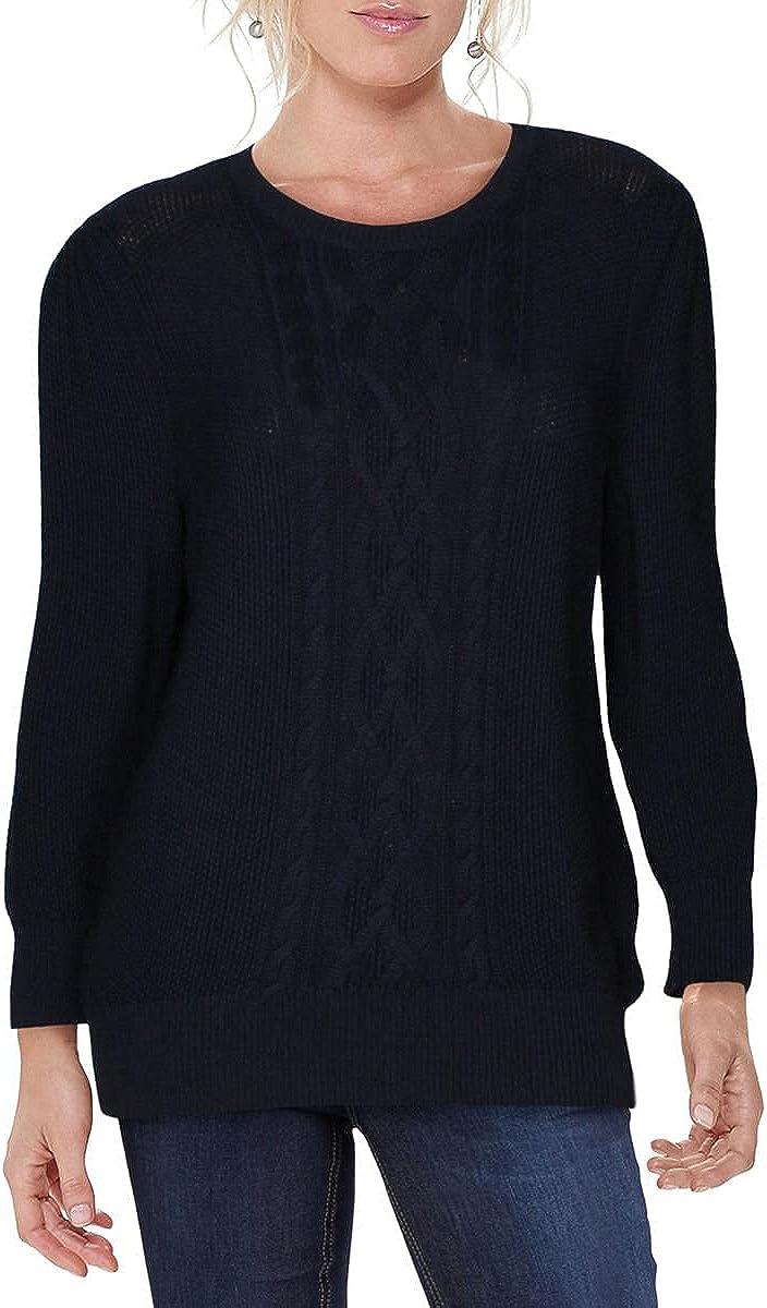 Lauren Ralph Lauren Womens Tishari Cable Knit Crewneck Sweater