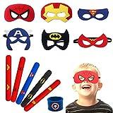 YuChiSX Masques de Super-Héros 12 Pack Enfants Super-Héros Masque de Feutre avec Corde...