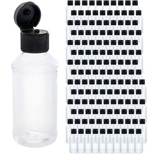 U.S. Art Supply 4 ounce Squeeze PET Plastic Bottles with Flip Cap -...