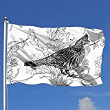 OnlyZhao Ruffed Grouse Banner Outdoor Decoration Breeze Flag 4x6 Ft Gift
