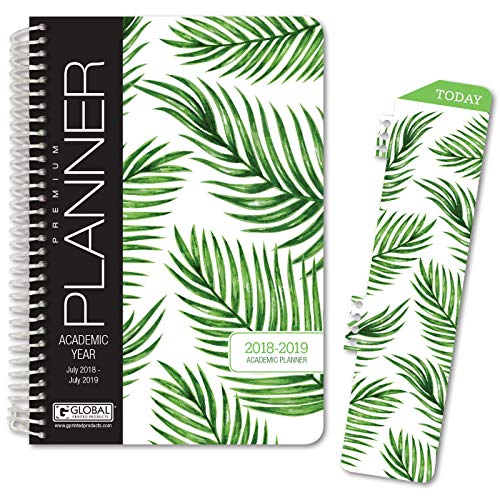 Best Planner 2018 Agenda for Productivity, Durability and Style. 5x8 Daily Planner/Weekly Planner/Monthly Planner/Yearly Agenda. HARDCOVER Organizer with Bookmark and Journal (Bright Paisley)