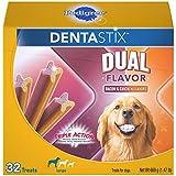 PEDIGREE DENTASTIX Dual Flavor Small Dog Dental Treats, Bacon & Chicken Flavors Dental Bones, 1.47 lb. Pack (32 Treats)