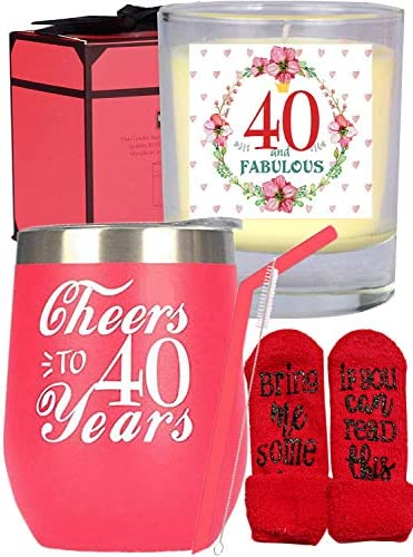 40th Birthday Gifts for Women 40th Birthday 40th Birthday Tumbler 40th Birthday Decorations product image