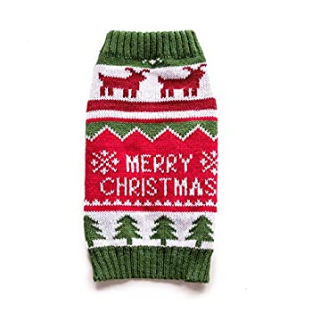 InnoPet Christmas Dog Hoodie Costume Small Dog Clothes Santa Claus Costume Outfits Sweater Dog Coat Warm Sweatshirt Winter Jacket Dog Apparel for Cold Weather …