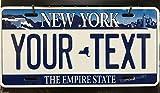 MNUT - Placa de matrícula de Estilo de Nueva York, Personalizada, 15,2 x 30,5 cm