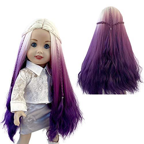 MUZI WIG Doll Hair Wig, Long Wavy Curly Heat Resist Doll Wigs for 18'' Dolls (02)