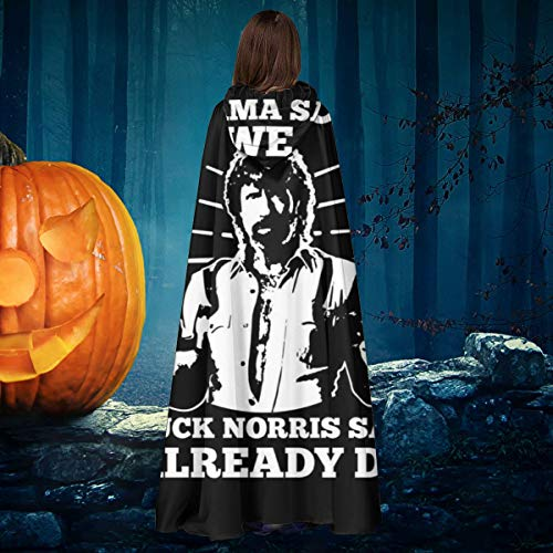 AISFGBJ Obama Said Yes We Can Chuck Norris Said I Already Did Unisex Navidad Halloween Bruja Cabo Caballero Cape Capa Disfraz Cosplay