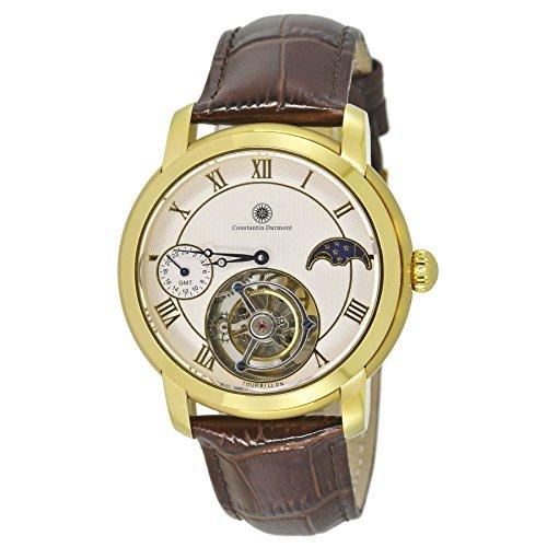 Constantin Durmont Reloj analógico para Hombre de Manual con Correa en Piel CD-TOUL-TBWD24-LT-GDGD-WH
