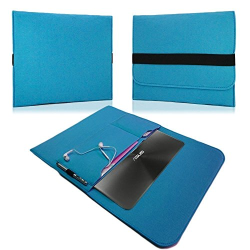 NAUC HP EliteBook Folio G1 12,5 Zoll Tasche Hülle Filz Sleeve Schutzhülle Hülle Cover, Farben:Türkis