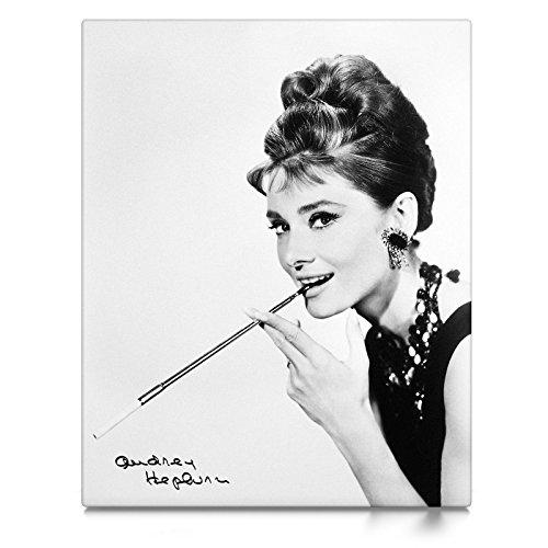 CanvasArts Audrey Hepburn - Leinwand Bild auf Keilrahmen (100x80 cm, einteilig)