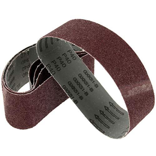 JINYIWEN Schuurband 5 Stuks 75x533mm Dremel Accessoires Schuurband Grit 40 60 80 120 Bandschuurmachine voor hout Metaaloxide Sander Tool Power Tool