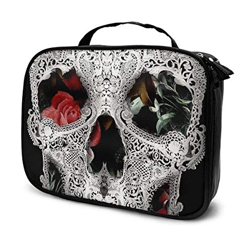 Skull Light Professhional Large Make Up Bag Makeup Case Waterproof Organizer Toiletry Cosmetic Bag for Men Women