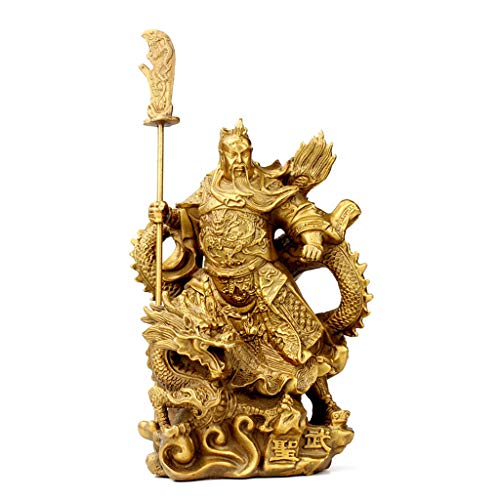 Decoration Guan Gong Ornaments Shop Decoration Desktop Decoration Office Decoration Design (Color : Gold, Size : 15922CM/538inch)