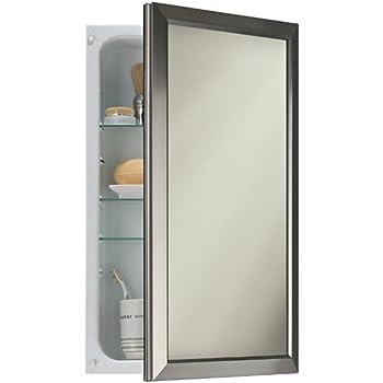 Amazon Com Broan Nutone 625n244snc Hampton Recessed And Framed Medicine Cabinet Satin Nickel Home Improvement