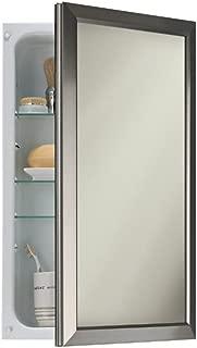 Broan-NuTone 625N244SNC Hampton Recessed and Framed Medicine Cabinet, Satin Nickel