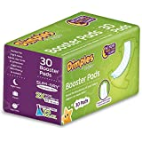 Dimples Booster Pads, Baby Diaper Doubler with Adhesive - Boosts Diaper Absorbency - No More leaks 30 Count (with Adhesive for Secure Fit) …